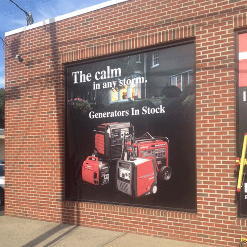 Large Format Digital Print  Applied to Exterior of Window, Ace Tool Repair